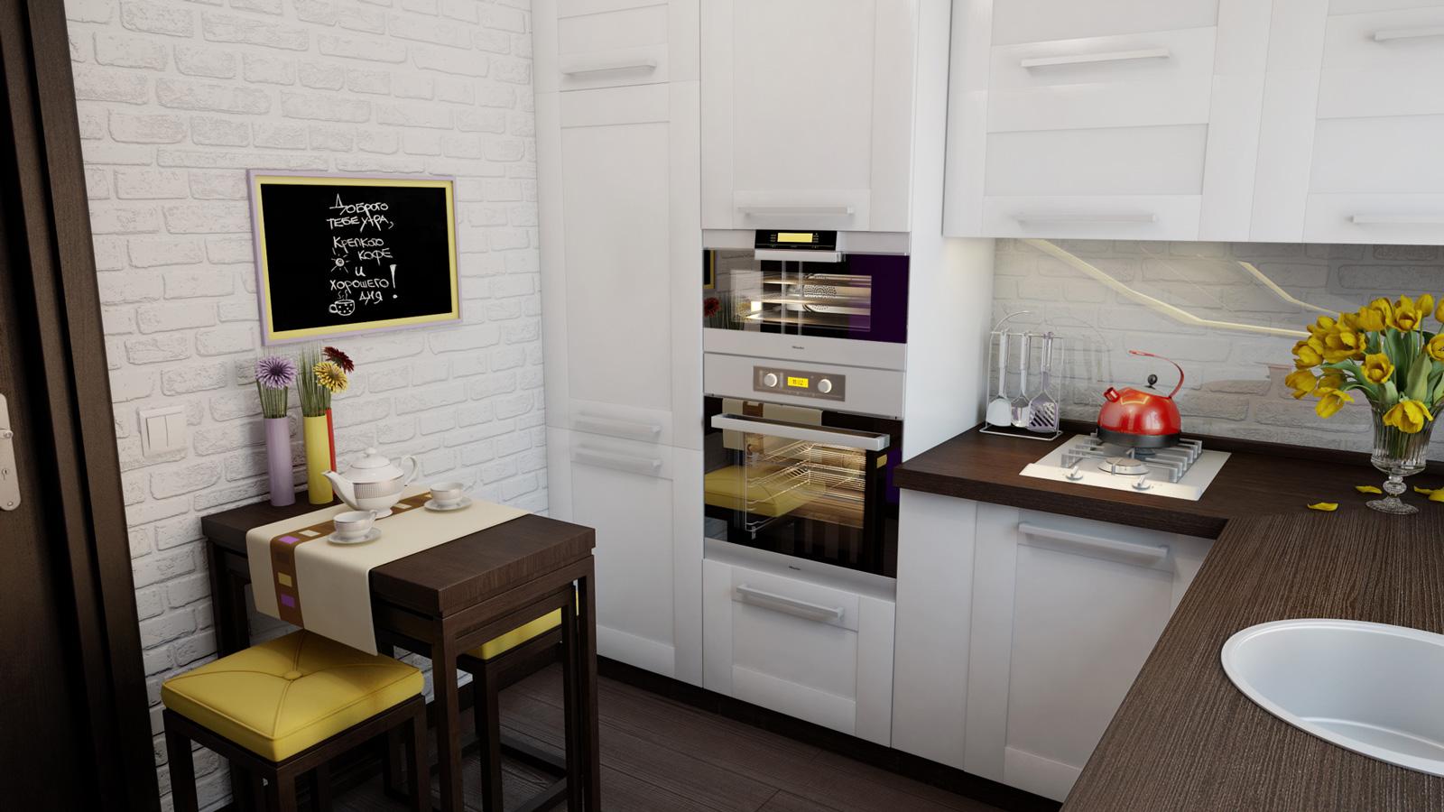 Обустраиваем правильно небольшую кухню